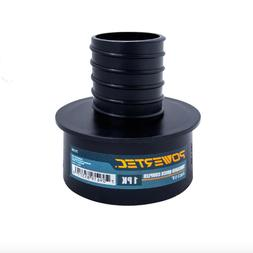 Powertec 4 x 2-1/4 inch Threaded Coupler Dust Collection Col