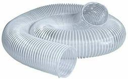 """POWERTEC Flexible PVC Dust Collection Hose 2-1/2"""" x10 ft. Cl"""
