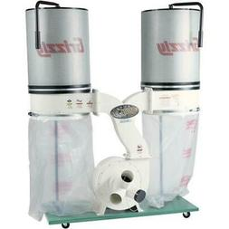 Grizzly G0562ZP 3 HP Double Canister Dust Collector with Alu