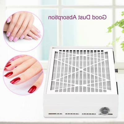 40W Nail Dust Collector Vacuum Cleaner Suction Fan Filter Du