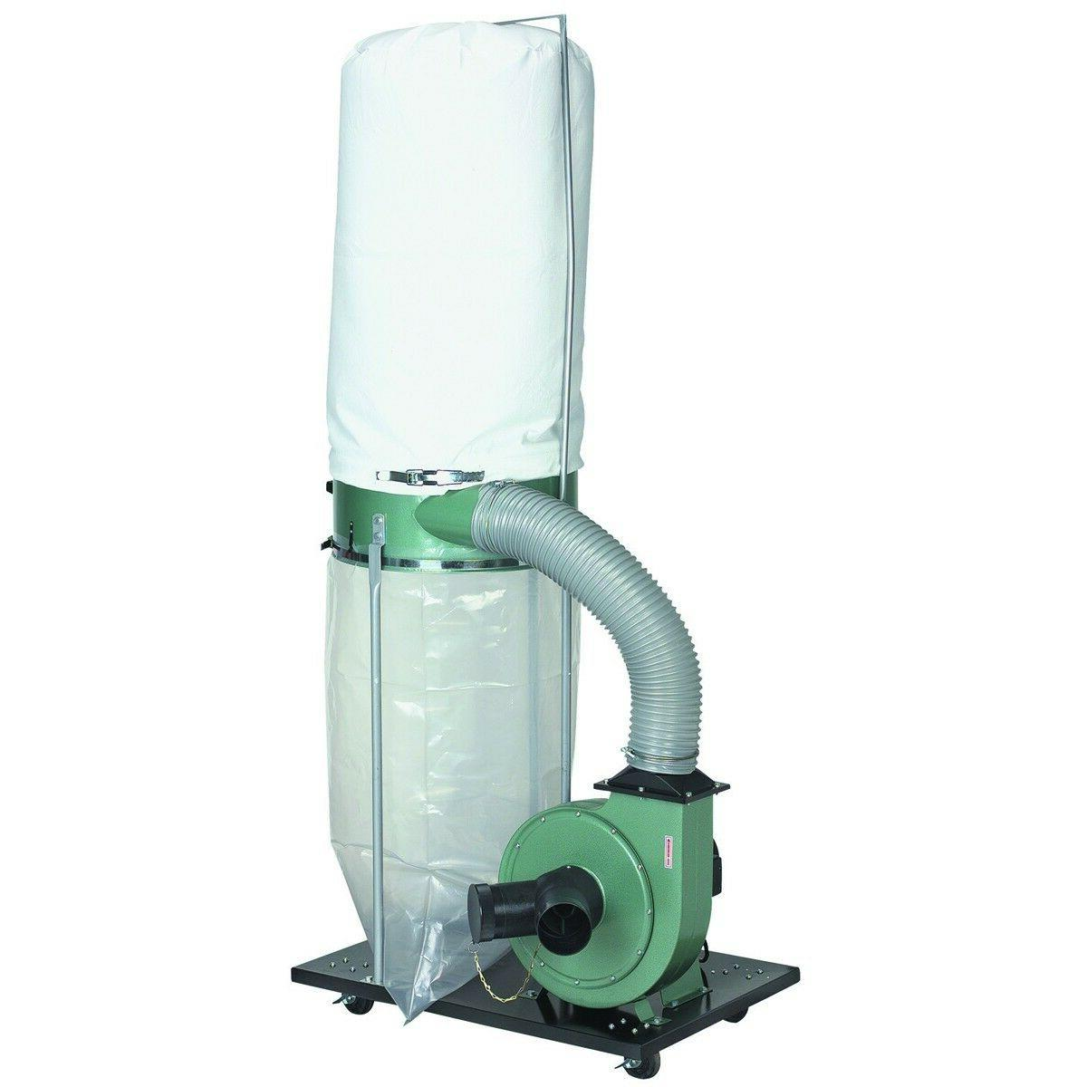 2 HP Motor Light Duty Wood Work Shop Dust Collector Industrial Portable Suction