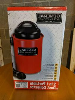 Portable Dust Collector Extractor Tool 108 CFM 13 Gal. Metal