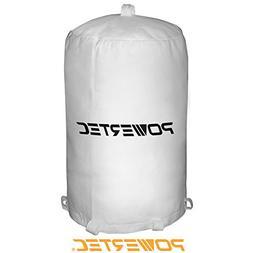 POWERTEC 70001 Dust Collector Bag, 20-Inch x 31-Inch, 1 Micr