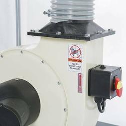 Shop Fox W1685 1-1/2 Hp 1280 Cfm Heavy Duty Steel Impeller D
